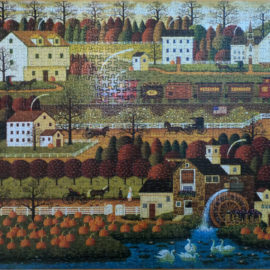 Charles Wysocki Puzzle, Honey Pumpkin Valley