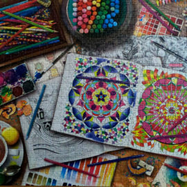 Ravensburger puzzle, The Artist's Desk, 1000 piece