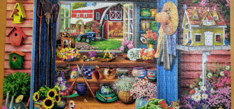 Buffalo Games Country Life Collection: Farm Flower Shed 1000 piece puzzle