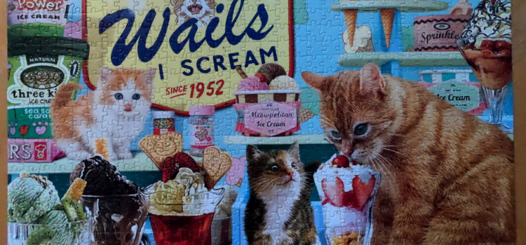 Buffalo Games Cats Collection, Ice Cream Raiders 750pc puzzle