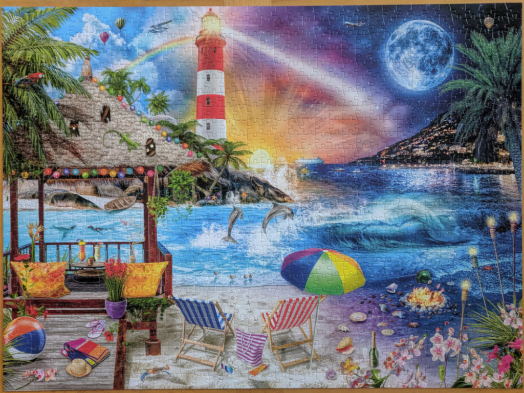 Buffalo Games Night & Day Collection 1000 piece puzzle, Life's a Beach