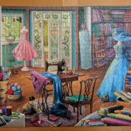 1000 piece Ravensburger puzzle, Seamstress Shop