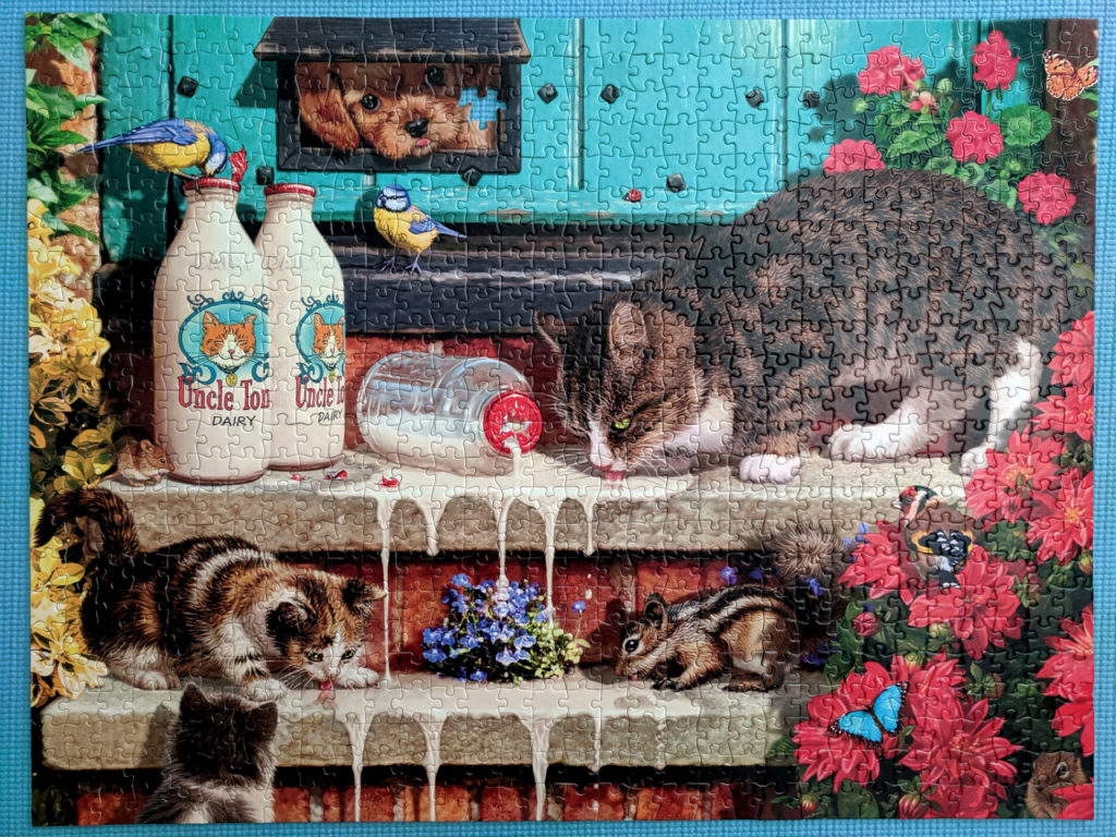 Cat jigsaw puzzle, Doorstep Raiders, 750 piece Buffalo
