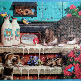 Doorstep Raiders | Cat Jigsaw Puzzle
