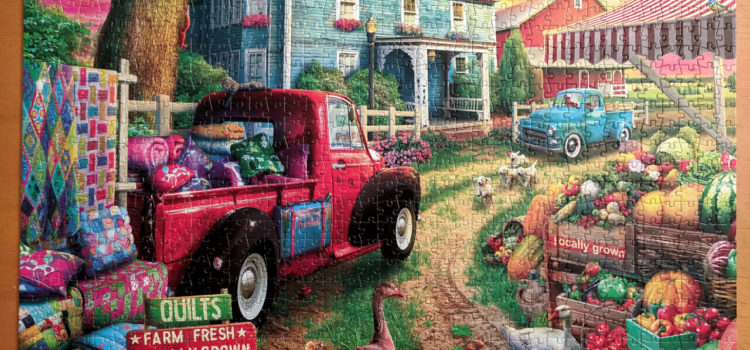 Quilt Farm, Buffalo Games 1000 piece puzzle