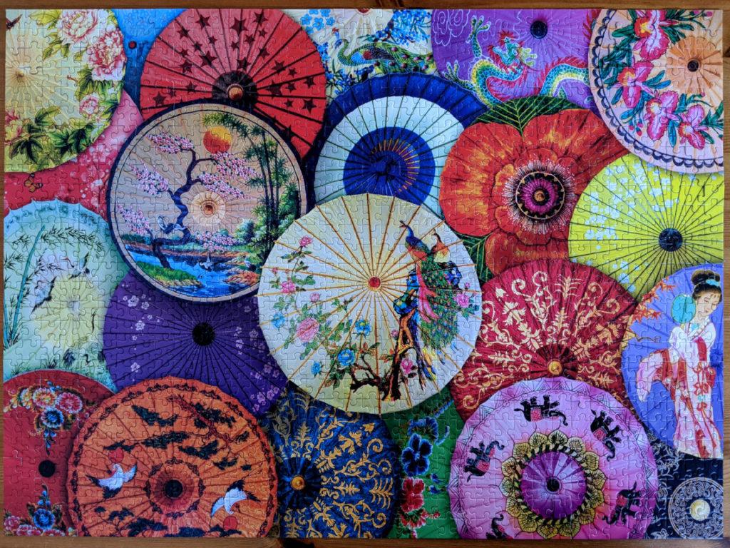 EuroGraphics Asian Oil-Paper Umbrellas, 1000pc