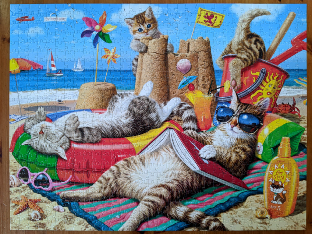 750 piece cat jigsaw puzzle, Beachcombers