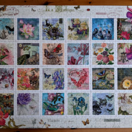 Completed Ravensburger Stamp Collection, 1000 piece puzzle