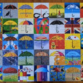 1000pc collage puzzle, Re-marks Umbrellas!