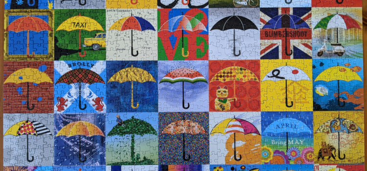 1000pc collage puzzle, Re-marks Umbrellas!