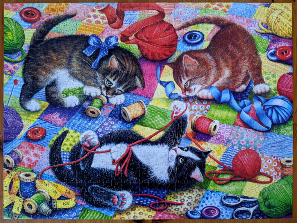 Knitting Kittens playing with yarns