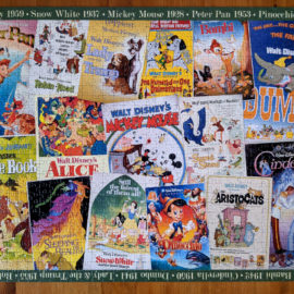 Puzzle with collage of Disney Vintage Movie Posters