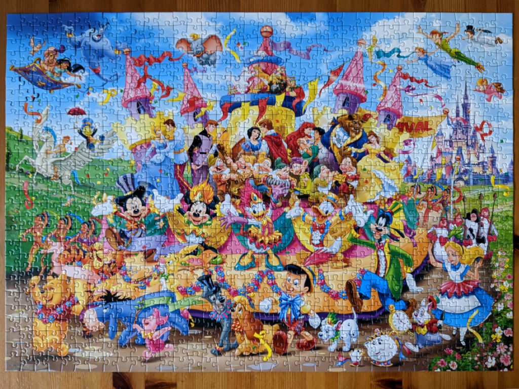 1000 piece Disney Carnival puzzle from Ravensburger