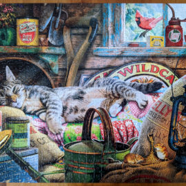 Relaxing With Cats Collection Puzzle, Laid-Back Tom