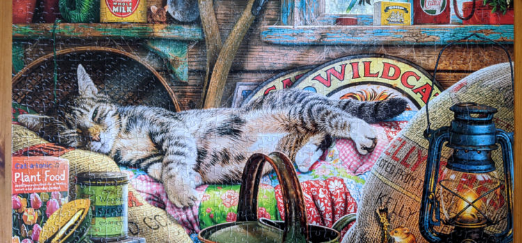 Cats Collection puzzle, Laid-Back Tom. Illustration by Steve Read.