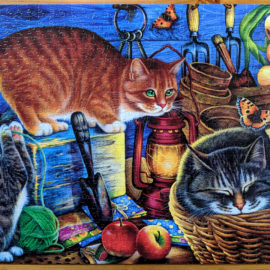 Potting Shed Cats is more difficult than some 1000pc puzzles