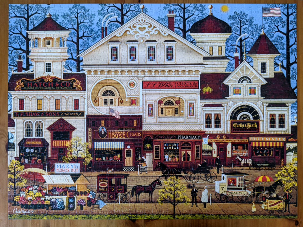 Illustration of Victorian Street blends Americana with Victorian elements
