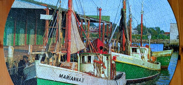 Vintage jigsaw puzzle from 1967, Fishing Comrades. Milton Bradely 1000pcs