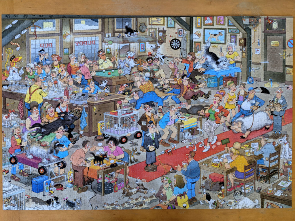The Dog Show puzzle is bizarre and wonderful by Jan van Haasteren